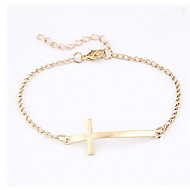 Women's Alloy Simple Cross Bracele