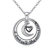 Women's European Style Boutique Moon Heart Necklace