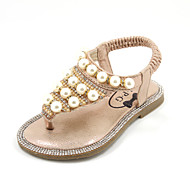 Girl's Summer Flip Flops / Sandals Leatherette Casual Flat Heel Pearl Black / Pink