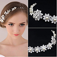 Women's Pearl Rhinestone Wedding Bridal Tiara Forehead Headpieces