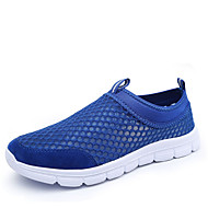 Men's Spring / Summer / Fall Comfort / Round Toe Tulle Slip-on Black / Blue / Brown / Gray / Navy Running