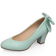 Women's Shoes  Chunky Heel Basic Pump Sandals/Pumps/Heels Office & Career/Dress/Casual Green/Pink/Beige
