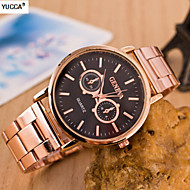 Women's The Double Scale Quartz Alloy, Switzerland Watch Brown Caizi Steel Band Watch Cool Watches Unique Watches
