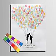 e-home® personlig fingeravtrykk maleri lerret utskrifter - en elsker av kysser (inkluderer 12 blekkfarger)