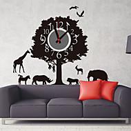kutilství 3d cartoon forest animal ráj nástěnné hodiny
