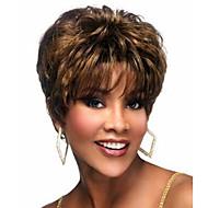 hieno naisten kampaus synteettinen hiukset peruukki kiharat ruskeat tyylikäs lyhyet hiukset peruukit