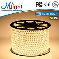 Mlight 10 M 72 leds/m 5050 SMD לבן חמים/לבן חסין למים/ניתן לחיתוך 9 W סרטי תאורת LED גמישים AC110-220 V