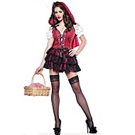 Red Little Red Riding Hood Costumes Halloween Costumes For Women(dress+headwear)