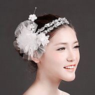 Women Rhinestone/Imitation Pearl/Net Flowers/Wreaths With Crystal/Imitation Pearl/Rhinestone Wedding/Party Headpiece