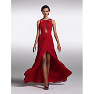 TS Couture® Formal Evening Dress Plus Size / Petite Sheath / Column Jewel Floor-length Chiffon with