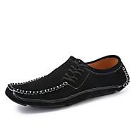 Sneakers-Nappalæder-Komfort-Herrer--Kontor Fritid-Flad hæl