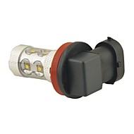 Carking ™ H8 / H11 60W 12Smd 2800Ml 6000K Hvidt Lys LED Tåge Lys Hoved Lampe Kørsel Pære (Dc 12V)