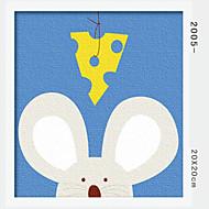 peinture à l'huile numérique bricolage en bois massif avec la peinture de plaisir en famille de cadre tout seul la souris 2005