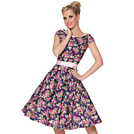 Vintage Style Delicate Scoop Neck Classic Dress