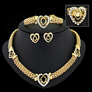 May Polly  European and American popular new diamond necklace earrings bracelet ring set dinner