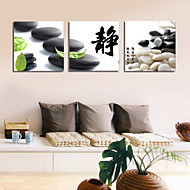 visuell star®chinese maleri ordet kunst lerret tre paneler høy kvalitet lerret klar til å henge