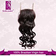 """10 """"-20"""" chiusura brasiliana del merletto dei capelli dell'onda profonda dimensione 4 """"x3"""" pollici chiusure superiori merletto dei capelli"""