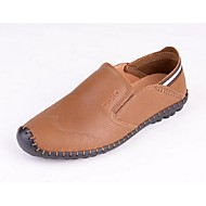 Men's Shoes Casual Leather Loafers Brown/Khaki