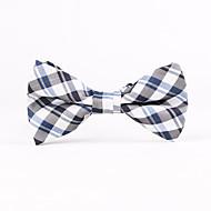 Gravatas Borboletas ( Preta/Cinzento/Azul , Poliéster ) Estampado
