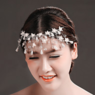 Women's Crystal/Tulle/Brass/Imitation Pearl Headpiece - Wedding/Special Occasion Flowers/Head Chain 1 Piece