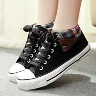 Lenkkarit - Tasapohja - Naisten kengät - Canvas - Musta / Sininen / Burgundy - Ulkoilu / Rento - Comfort / Pyöreäkärkiset / Suljettu kärki