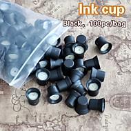 100 buc / sac permanente cupe de cerneală machiaj cu inele de cerneală titularul capace de cerneală burete