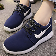 Women's Shoes Flat Heel Round Toe Fashion Sneakers Casual Black/Blue/Red