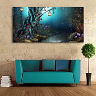 E-HOME® Stretched LED Canvas Print Art  Under The Tree LED Flashing Optical Fiber Print