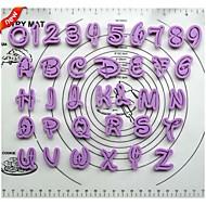 フォンダンケーキデコレーションツール漫画フォントアルファベットカッター数文字は36のプラスチッククッキーカッターセットを設定ルター
