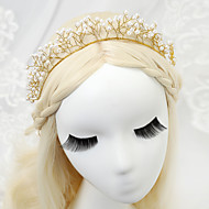 Mulheres / Menina das Flores Liga / Imitação de Pérola Capacete-Casamento / Ocasião Especial Bandanas 1 Peça Claro Redonde
