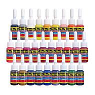 28 × 5 ml Variété Couleurs Encres de tatouage classique Pigment de tatouage Jeu de couleurs couleurs de maquillage