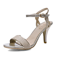 Women's Shoes Kitten Heel D'Orsay & Two-Piece/Open Toe Sandals Office & Career/Dress Silver/Gold