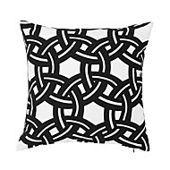 "Modern/Contemporary 18"" Square Geometric Pillow With Insert"