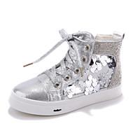 ( Svart/Sølv ) Komfort - Trendy sneakers - Kunstlær - GIRL