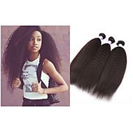 """3pcs / lot """"-34"""" # 1b extension de 10 mongol cheveux vierges mongol trame droite kinky armure 300gmink cheveux"""