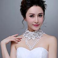 Korean Style Exquisite Lace Flowers Rhinestones/Titanium Wedding/Party Necklace