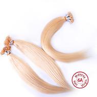 evet malaysisches reines Haar seidige gerade 6a Klasse U Spitze Verlängerungen 100g / lot malay echte Nagelmenschenhaar Großhandel