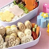 flor bonito urso bolo sushi molde sanduíche coelho cortador de ovo molde