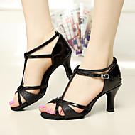 태양 리사 라틴어 살사 사용자 정의 여성의 샌들 쇳조각 버클 댄스 신발 (더 많은 색상을) 새틴