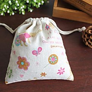 Women's Handmade Ccotton Linen Cute Pink Bunny Zero Purse