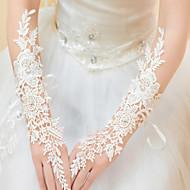 До локтя С открытыми пальцами Перчатка Кружева Свадебные перчатки Вечерние перчатки Весна Лето Осень