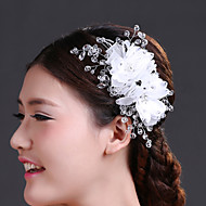 Women's Crystal/Imitation Pearl/Chiffon/Net Headpiece - Wedding/Special Occasion Flowers 1 Piece
