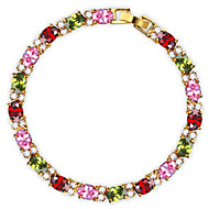 2015 New Brand JewelOra Fashion Women Multicolor Ruby CZ Charms Classic Tennis Bracelets