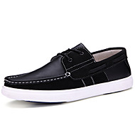 Men's Shoes Outdoor / Casual Nappa Leather / Leatherette Boat Shoes Black / Red / Burgundy