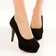 Women's Shoes Faux Suede Stiletto Heel Heels/Platform/Novelty/Closed Toe Pumps/Heels Party & Evening/Dress/Casual Black
