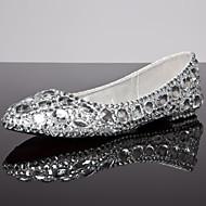 שטוחות - נשים - נעלי חתונה - נוחות / מעוגל / סגור - חתונה / שמלה / קז'ואל - כסוף