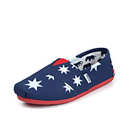 Women's/Men's/Lovers' Shoes Canvas Flat Heel Comfort Loafers Office & Career/Athletic/Casual Blue/White