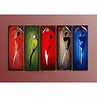 handbemalte abstrakten multicolor Portrait-Ölgemälde auf Segeltuch 5pcs / ohne Rahmen gesetzt