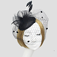 Women Feather/Net Flowers/Birdcage Veils With Wedding/Party Headpiece(More Colors)