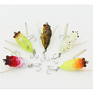 40mm6.5g  Bionic Cicada Hard Bait Fishing Lure (Color Random)